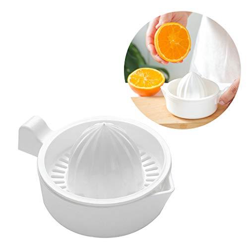 YIFEIJIAO, Mini plástico de doble capa doméstico manual de cítricos exprimidor de naranja limón fruta exprimidor taza con mango verter caño portátil máquina de cocina