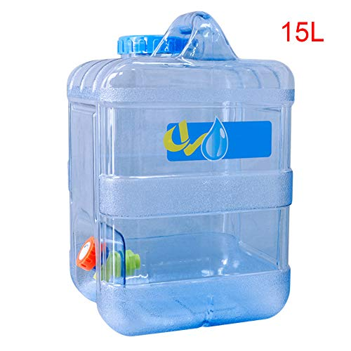 Hete-supply BPA-vrije herbruikbare plastic fles Gallon kruik container, draagbare koelkast fles met ventiel, drank dispenser drank water container dispenser Pitcher met spigot (15L)