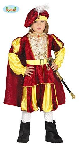 Guirca- Kostüm für Kinder Größe 3/4 Jahre, Farbe Gelb und Rot, 3-4 (95-105 cm), 87557