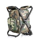 ZGQA-GQA Chaise pliante Pêche Sac à dos, sac à dos Sièges Isolation glace portable for l'extérieur Climb Randonnée en...