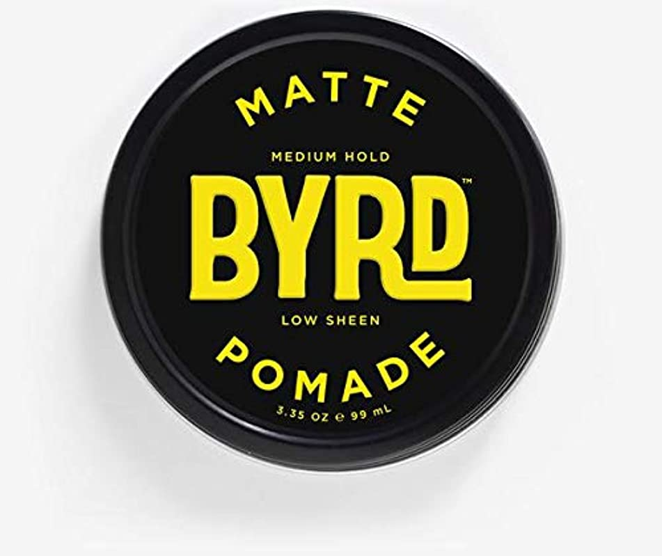 BYRD Matte Pomade - Medium Hold, No Sheen, For All Hair Types, Mineral Oil Free, Paraben Free, Phthalate Free, Sulfate Free, Cruelty Free, Water Based, 3.35 Oz