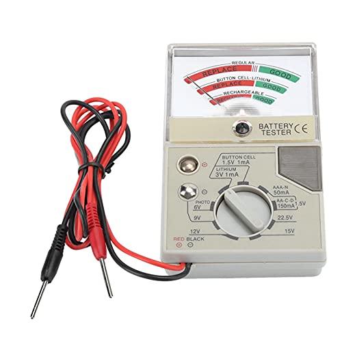 kasu Mire el reloj del probador de baterías del reloj de la batería electrónica del instrumento del instrumento de la batería Mida la capacidad de la batería detectando la herramienta de reparación de