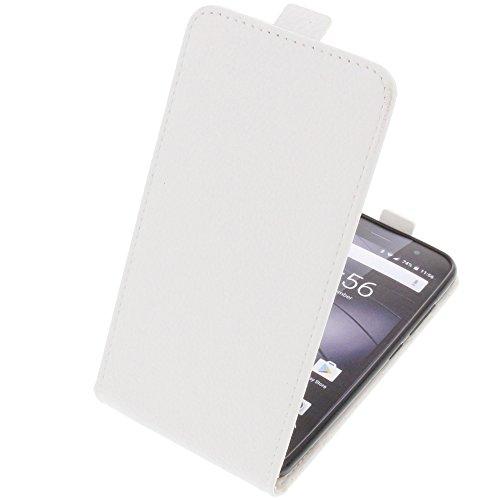 foto-kontor Tasche für Gigaset GS170 GS160 / GS170 Smartphone Flipstyle Schutz Hülle weiß