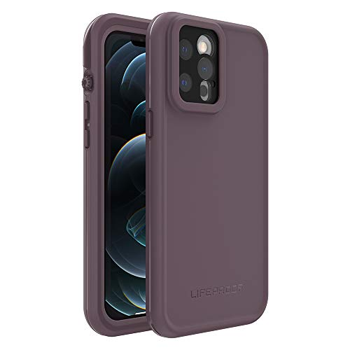 LifeProof FRE Series Waterproof Case for iPhone 12 Pro Max - Ocean Violet (Berry Conserve/Dusty Lavender), Purple (77-81614)