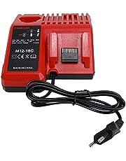 CYDZ® Vervang laders voor Milwaukee M18 M12 18V 220V Li-ion gereedschap Accu 48-59-1812 48-59-1807 48-59-1806 48-59-1840 2710-20