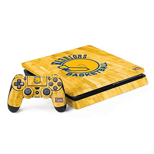Skinit Decal Gaming Skin for PS4 Slim Bundle - Officially Licensed NBA Golden State Warriors Hardwood Classics Design