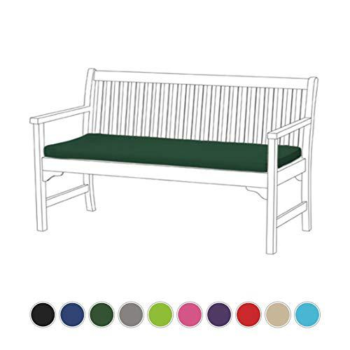 Gardenista | Garden Bench Cushion 3 Seater Outdoor/Indoor Water Resistant & Fire Retardant Cushion Patio Furniture Pad (Green)