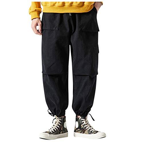 Zolimx Herren Thermohose Freizeithose mit Dehnbund Cargohose Winter warm gefütterte Arbeitshose Outdoor Workwear