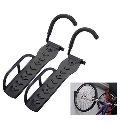 Lomubue flmeuinternational Wall Mount Bike Hanger, Steel Bicycle Hook Rack Stand Storage Holder for Indoor Shed Heavy Duty Durable