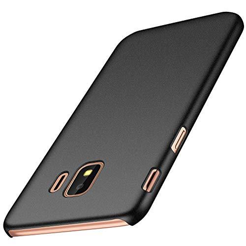 anccer Samsung Galaxy J2 Core Hülle, [Serie Matte] Elastische Schockabsorption & Ultra Thin Design für Samsung Galaxy J2 Core (Kies Schwarz)