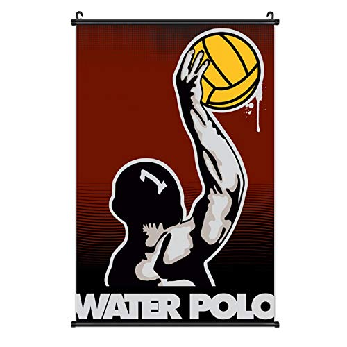 NiYoung Wall Art Prints Water Polo Posters Decoration Canvas Foldable Mural Artwork Hd Print Pictures for Bathrooms, Dining Room, Dorm (16x24 inch)