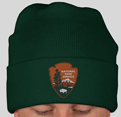 National Park Service NPS Beanie in Park Service Green with National Park Service Woven Patch (Green)