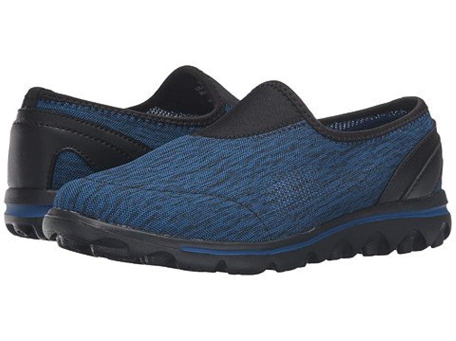 神秘夢距離(プロペット)Propet レディースウォーキングシューズ?カジュアルスニーカー?靴 TravelActiv Slip-On Black/Navy Heather 9 26cm N (AA) [並行輸入品]