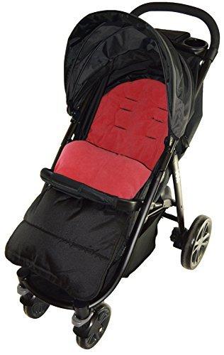 Sacco coprigambe, compatibile con passeggini Maclaren Techno, colore: nero
