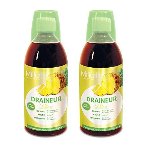 Milical - Draineur Ultra Gout Ananas 2x500ml Milical