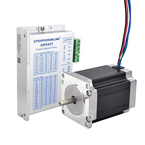 STEPPERONLINE 1 Achse Schrittmotor CNC Kit 1.9Nm 2.8A Nema 23 Schrittmotor & Schrittmotor Treiber 1.0-4.2A DC20V-50V für CNC Graviermaschine,3D Drucker