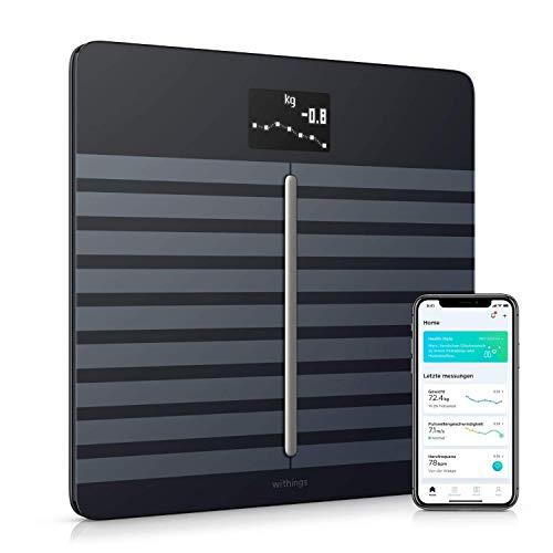 Withings Body Cardio – Premium WLAN-Smart-Waage mit Körperzusammensetzungsfunktion, Messung von Herzfrequenz, BMI, Körperfett, Muskelmasse, Wasseranteil {4f0acc7054e00ad8c5bea9ce82fdfc1134f60ac3a7cf19378d4305e86c7f9b07}, digitaleKörperfettwaage