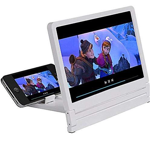 Lupas, lupa de pantalla, teléfono celular 7.8 pulgadas Amplificador de video de película hd 3d con soporte plegable compatible con Iphone X / 8/8 Plus / 7 / 7plus y todos los demás teléfonos intelige