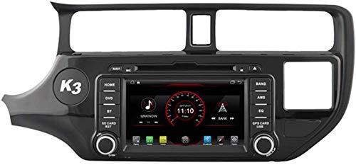 FWZJ Autosion Android 10 Car DVD Player GPS Stereo Head Unit Navi Radio Multimedia WiFi para Kia Rio Pride 2011 2012 2013 2014 Control del Volante