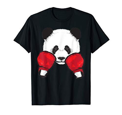 Funny Panda Boxing Cool Animal Lover Gloves Boxer Fan Gift T-Shirt