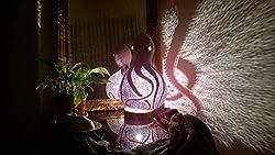gifts for octopus lovers ~ pumpkin handmade lamp