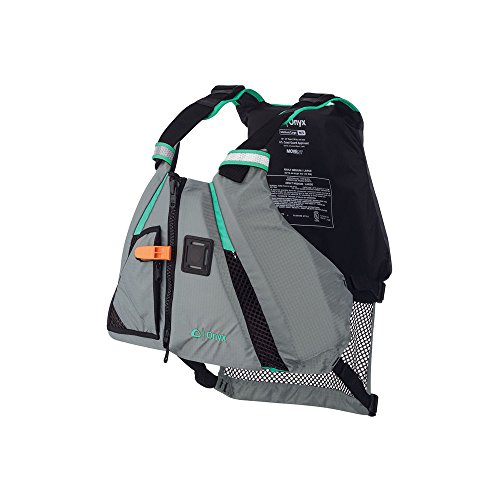 Onyx 122200-505-020-15 MoveVent Dynamic Paddle Sports Life Vest, X-Small/Small, Aqua