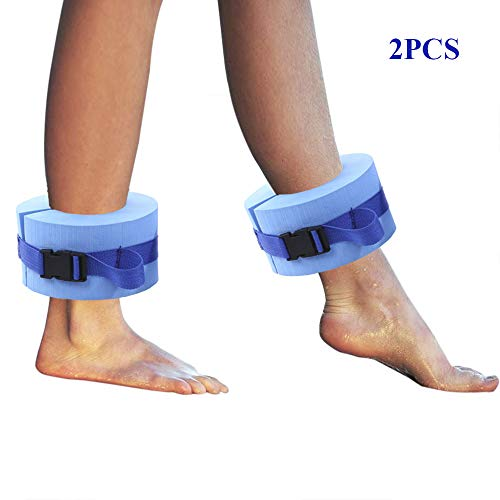 New RTWAY Foam Swim Aquatic Cuffs, Set of 2 Water Aerobics Float Ring Ankles Arms Belts with Quick R...