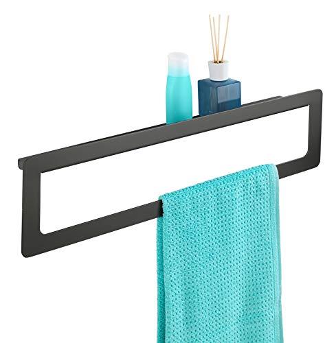 Wenko Montella Handdoekhouder voor het schroeven, roestvrij aluminium, antraciet