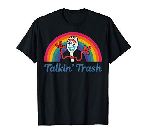 Disney Pixar Toy Story 4 Forky Talkin' Trash Rainbow Poster T-Shirt