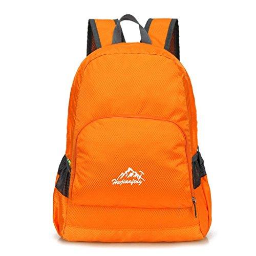 Rucksack Rcool Unisex Fashion Denim Travel Rucksack Taschen Schultasche Rucksack Casual Retro (Orange)