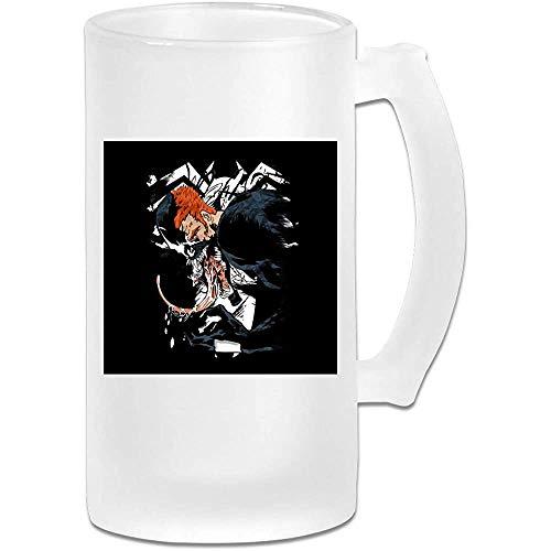 Tazza di birra Stein in vetro satinato stampato 16oz - Venom Eddie Brock Half Face - Tazza grafica