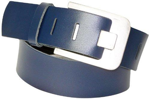 Fronhofer large ceinture 5 cm 100% cuir de vachette NOUVEAUX COLORIS de ceinture, Mixte, Taille:Taille 110 cm, Couleur:Bleu marine