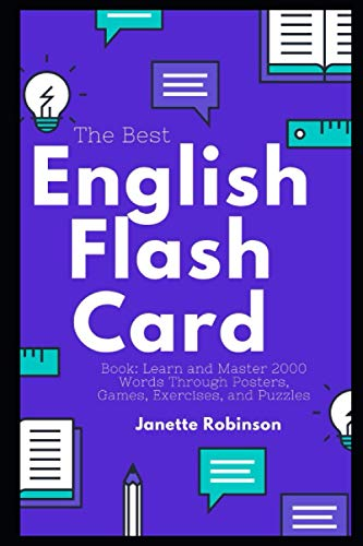 The Best English Flash Card Book: Learn and Master 2000 Words Through Posters, Games, Exercises, and Puzzles (English Flash Cards)