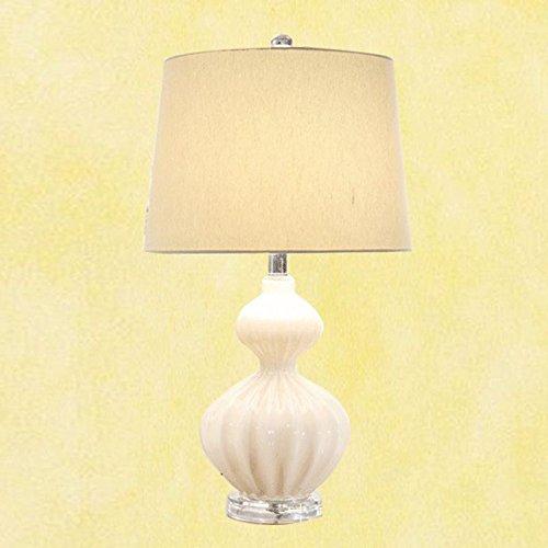 Fashion Glass Chambre Lampes de table créatifs plastique salle de Fille de lampe de bureau chambre salon bureau Lights (Blanc)