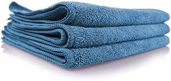 Chemical Guys MICMBLUE03 Workhorse Professional Grade Microfiber Towel Blue 16 In X 16 In Pack Of 3