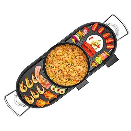 41ZfYIQ9TfL - CJTMY Multifunktionale Teppanyaki Grill/Topf mit Divider Separate Dual-Temperatur Contral, Kapazität for 8 Personen Familienfeiern