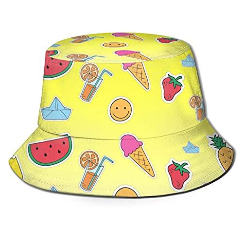 DJNGN Skull Camo Unisex Casual Bucket Sun Hat Gorra de Pescador para Pesca SenderismoCámping