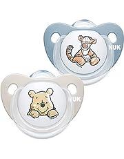 NUK Nuk 10176178 Disney Chupete De Silicona Diseño Winnie The Pooh Rojo Talla 6 Monate