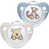 NUK Trendline - Chupete para bebé de 6 a 18 meses, sin BPA, silicona sin BPA, diseño de Winnie the Pooh, color azul (chico)