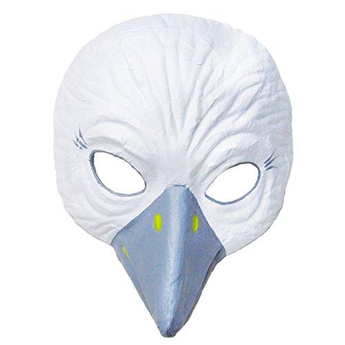 Prezer Weiße Taube Theatermaske für Kinder und Erwachsene