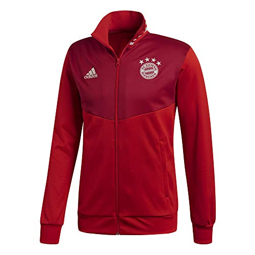 adidas Herren FC Bayern 3S Track Top Trainingsjacke, FCB True red/Strong red, S