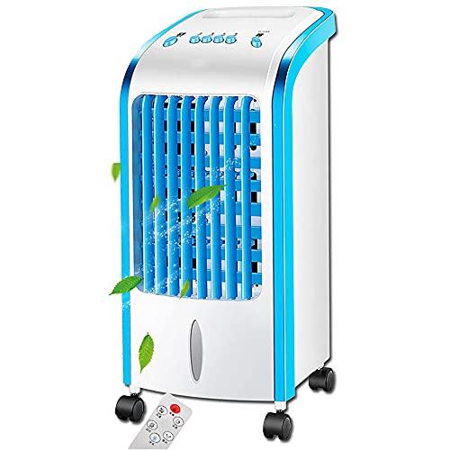N / E Refrigerador de Aire portátil, Aire Acondicionado móvil Enfriador evaporativo, Acondicionador de purificador 3 Velocidades del Viento para Oficina de Habitaciones, Control Remoto Incluido