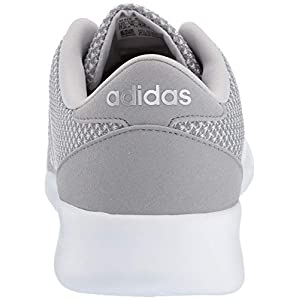 adidas Women's Cloudfoam QT Racer Shoes, Light Granite/Silver Metallic/Grey, 8.5 M US