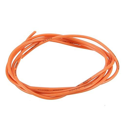 Sevenshop Cable De Alambre De Silicona Flexible 24Awg, Cobre Estañado De Alta Temperatura Suave, Naranja, 1/3/5/10 M - 5M