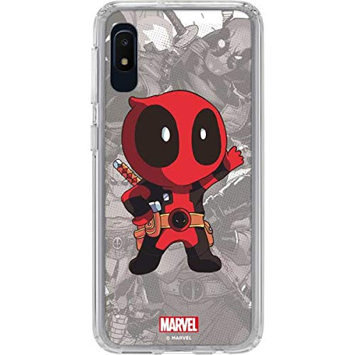 Skinit Clear Phone Case Compatible with Galaxy A10e - Officially Licensed Marvel/Disney Deadpool Hello Design