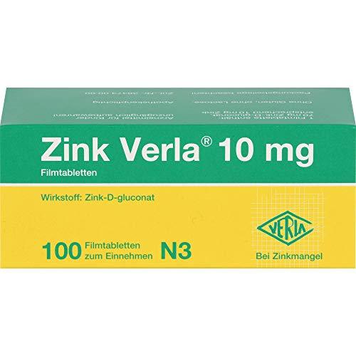 Zink Verla 10 mg Filmtabletten, 100 St. Tabletten