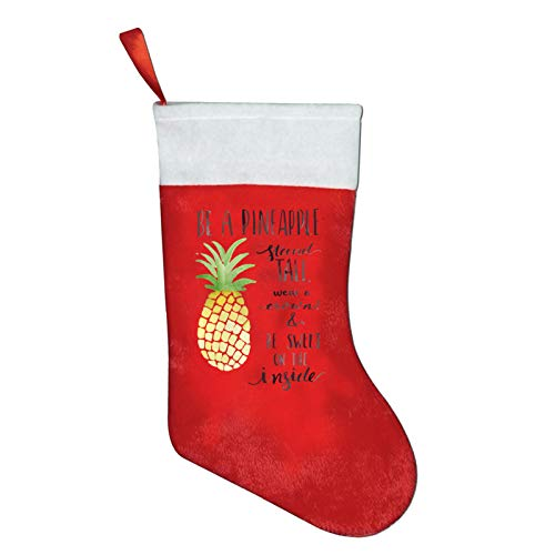 Be A Pineapple Christmas Stockings Xmas Gift 16.5' Christmas Socks Santa Christmas Tree Hanging Ornament Fireplace Xmas Tree Holiday Party Decoration Gifts