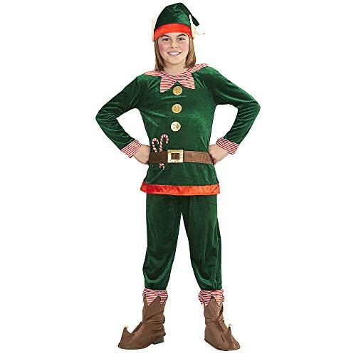 Widmann-Elfo Aiutante di Babbo Natale Costume per Bambini, Multicolore, (140 cm   8-10 Anni), 8737