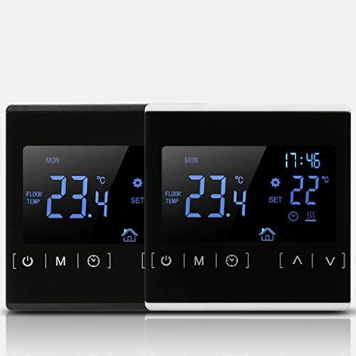 LCD Touch Screen Thermostat Elektrische Fußbodenheizung Wasserheizung Thermoregler AC85-240 V Temperaturregler 110 V 220 V 16 A Schwarz