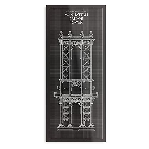 Leon Rapaz Solomon Manhattan Blueprint York arquitectura New Vintage – Póster de arte tendencias decorativas, pintura de pared para dormitorio